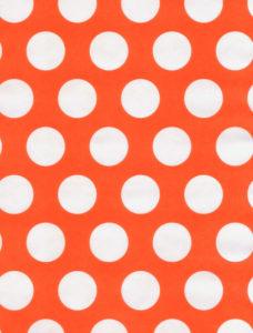 White Dot on Orange Giftwrap