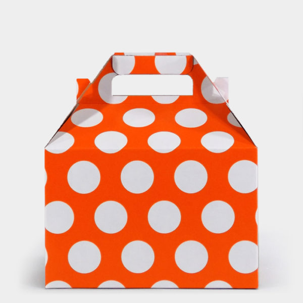 White Dot on Orange Gable Box