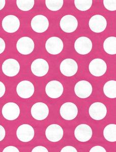 White Dot on Pink Gift Wrap