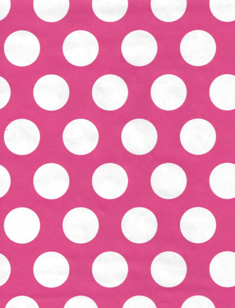 White Dot on Pink Gift Wrap