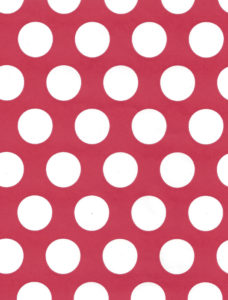 White Dot on Red Gift Wrap