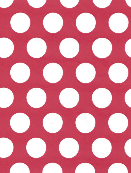 White Dot on Red Gift Wrap